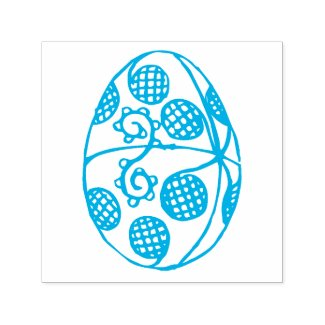 Hand Drawn Easter Egg Drawing Custom Color Self-inking Stamp