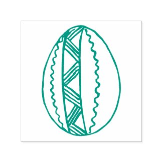 Hand Drawn Easter Egg Line Drawing Custom Color Self-inking Stamp