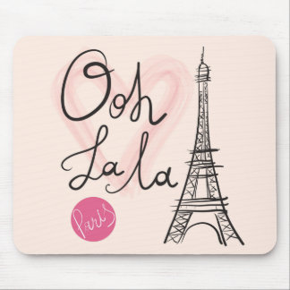 Hand Drawn Eiffel Tower Mouse Pad