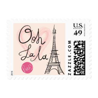 Hand Drawn Eiffel Tower Postage