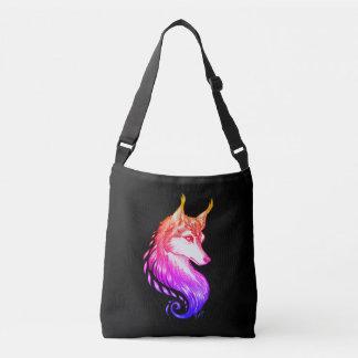 Hand Drawn Elegant Sunset Wolf US Made Tote Bag