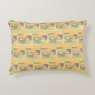 Hand drawn ethinc pattern background Accent Pillow