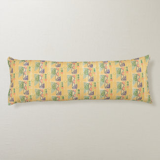 Hand drawn ethinc pattern background Body Pillow