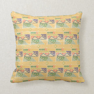 Hand drawn ethinc pattern background throw pillow