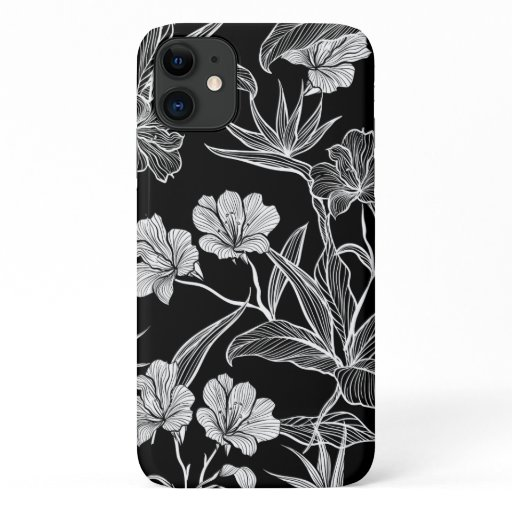 Hand Drawn Floral iPhone 11 Case