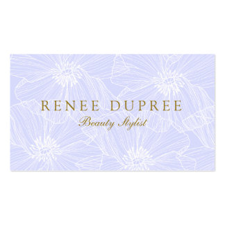 Hand Drawn Floral Cosmetology Lavender Beauty 2 Business Card Template