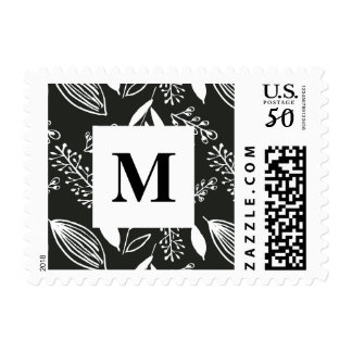 Hand Drawn Floral Illustration Wedding Postage
