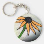 Hand-drawn Flower Keychains