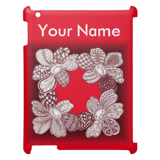 Hand Drawn Flower Lei Choose Any Color Cover For The iPad 2 3 4