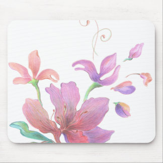 Hand-Drawn Flower Mousepad
