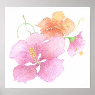 Hand-Drawn Flower Print