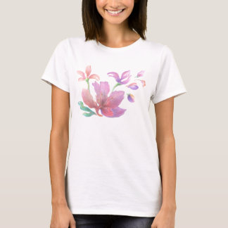 Hand-Drawn Flower T-shirt