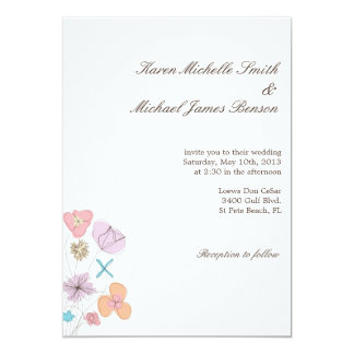 Hand Drawn Flowers Invitation