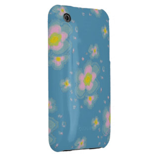 Hand Drawn Flowers iPhone 3 Cover