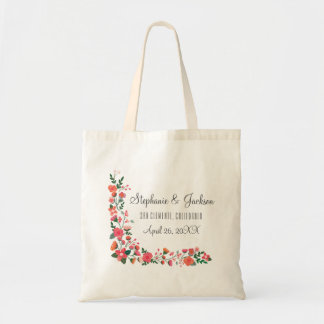 Hand Drawn Flowers Tote Bag