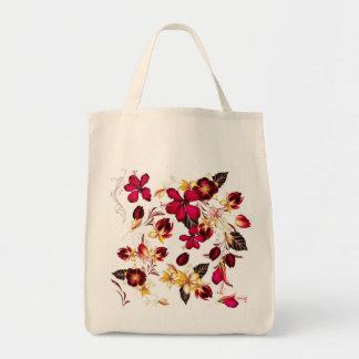 Hand drawn folk Bag : with Flowers