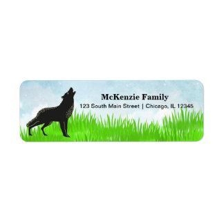 Hand drawn fox label