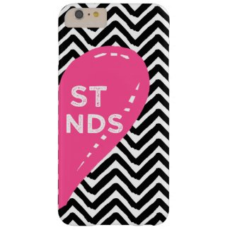 Hand Drawn Friends Right Side Heart Chevron Barely There iPhone 6 Plus Case