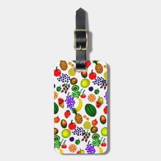 Hand Drawn Fruit Medley Pattern Luggage Tag
