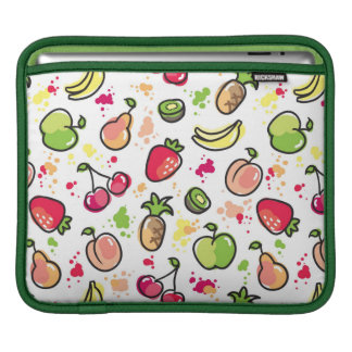 hand drawn fruits pattern sleeve for iPads