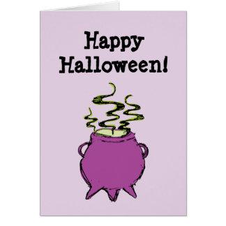 Hand-drawn & Fun Witches Brew Cauldron Light Card