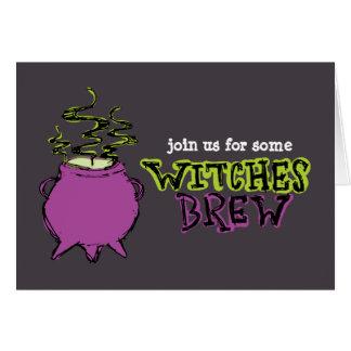 Hand-drawn & Fun Witches Brew Dark Card