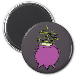 Hand-drawn & Fun Witches Brew Dark Cauldron Magnet