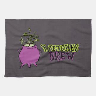 Hand-drawn & Fun Witches Brew Dark Kitchen Towel