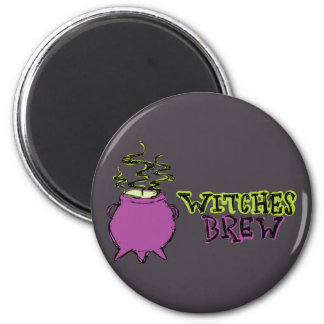 Hand-drawn & Fun Witches Brew Dark Magnet