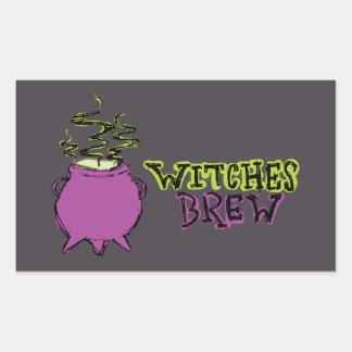 Hand-drawn & Fun Witches Brew Dark Sticker