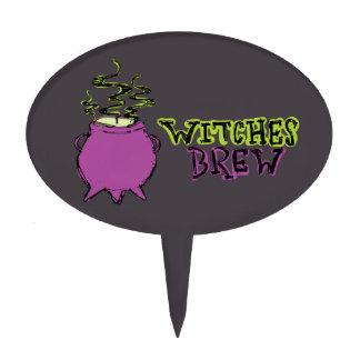 Hand-drawn & Fun Witches Brew Dark Topper