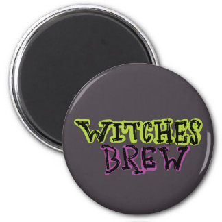Hand-drawn & Fun Witches Brew Dark Type Magnet