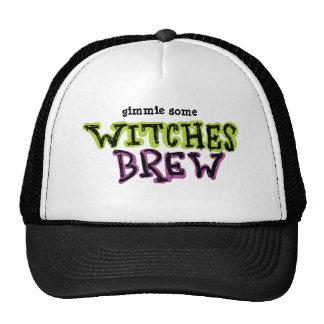 Hand-drawn & Fun Witches Brew Dark Type Trucker Hat