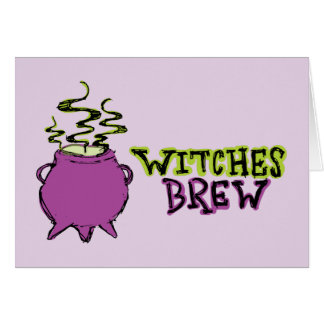 Hand-drawn & Fun Witches Brew Light Card