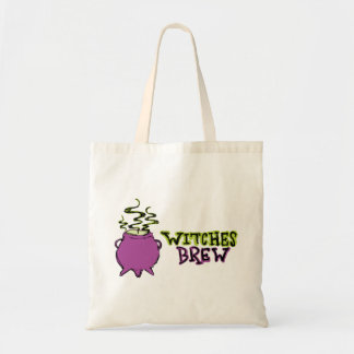 Hand-drawn & Fun Witches Brew Light Tote Bag