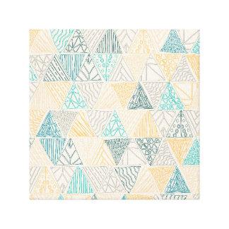 Hand Drawn Geometric Pattern Design Yellow Print
