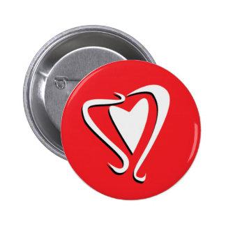 Hand Drawn Heart Button Badge