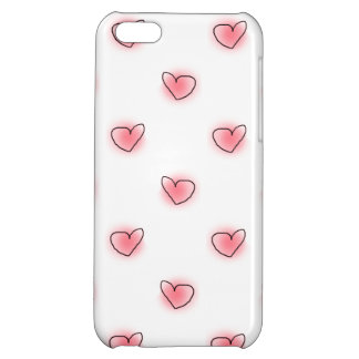 Hand Drawn Hearts Cute Doodles Case For iPhone 5C