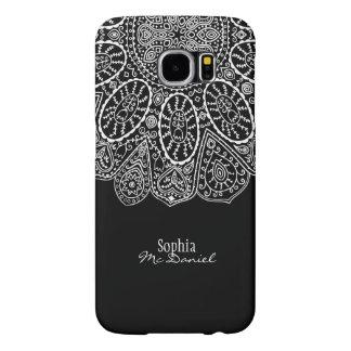 Hand Drawn Henna Circle Design Black and White Samsung Galaxy S6 Case