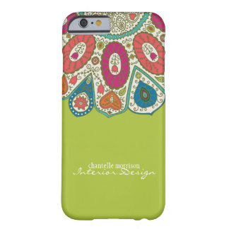 Hand Drawn Henna Circle Pattern Design Bright Barely There iPhone 6 Case