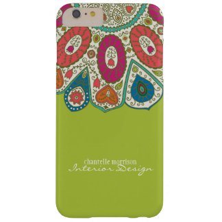 Hand Drawn Henna Circle Pattern Design Bright Barely There iPhone 6 Plus Case