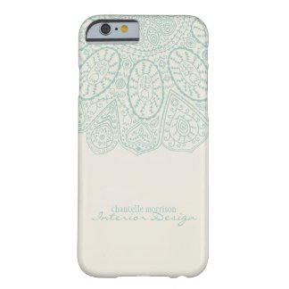 Hand Drawn Henna Circle Pattern Design Business Barely There iPhone 6 Case