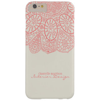 Hand Drawn Henna Circle Pattern Design Business Barely There iPhone 6 Plus Case