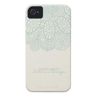 Hand Drawn Henna Circle Pattern Design Business iPhone 4 Case-Mate Case
