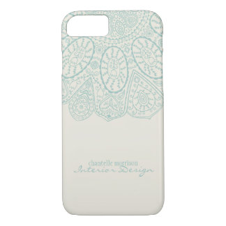 Hand Drawn Henna Circle Pattern Design Business iPhone 7 Case