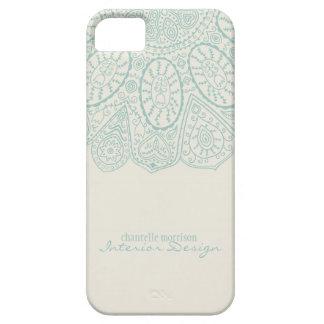 Hand Drawn Henna Circle Pattern Design Business iPhone SE/5/5s Case