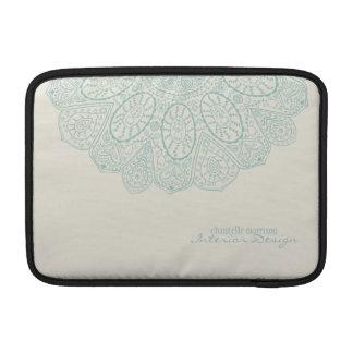 Hand Drawn Henna Circle Pattern Design Business MacBook Sleeve