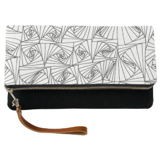 Hand drawn illusion clutch