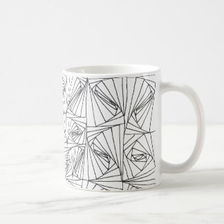 Hand drawn illusion coffee mug
