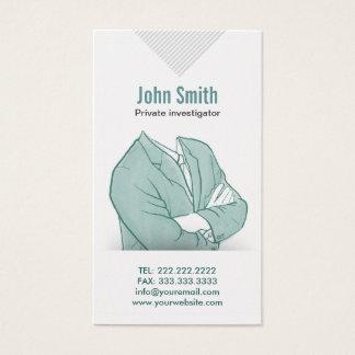 Hand Drawn Investigator Business Card